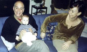 Bernie med Joshua och Helena